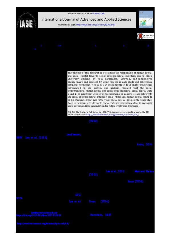 PDF) Relationship between human capital and social capital