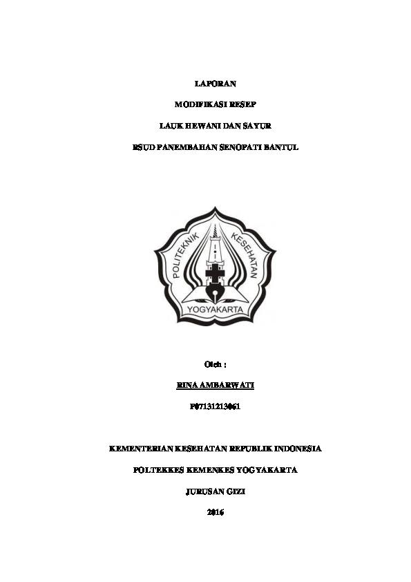 Doc Modifikasi Resep Docx Rina Ambarwati Academia Edu