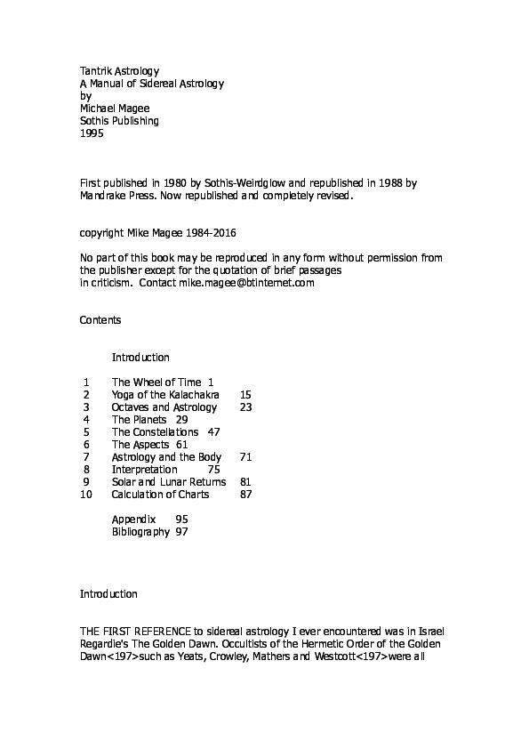 PDF) Tantrik Astrology pdf | Mike Magee - Academia edu