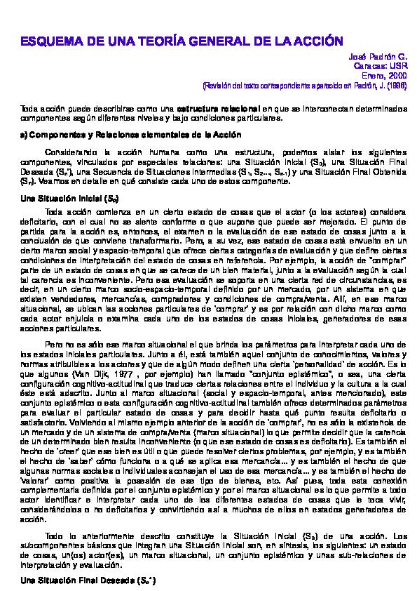Doc Esquema De Una Teoría General De La Acción Jose