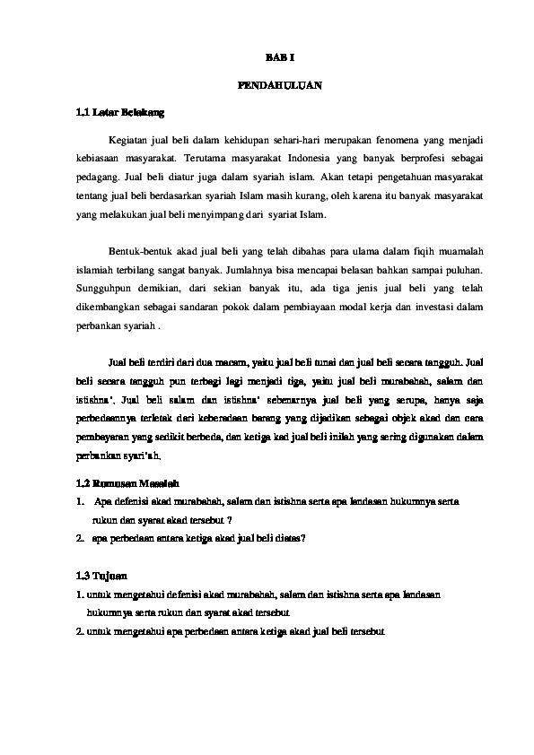 Doc Makalah Murabahah Docx Nabila Ulvi Academia Edu