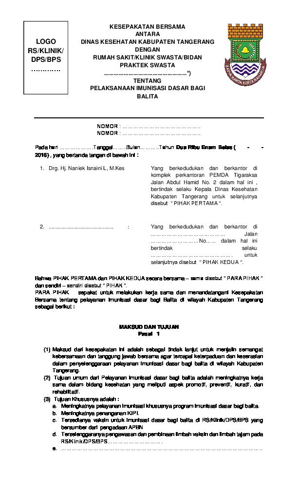Doc Contoh Mou Ovi Susanti Academiaedu