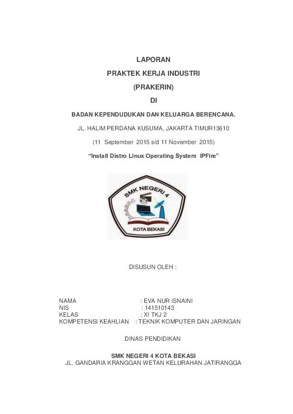 Doc Laporan Praktek Kerja Industri Prakerin Di Miftahulihsan Albanjary Academia Edu