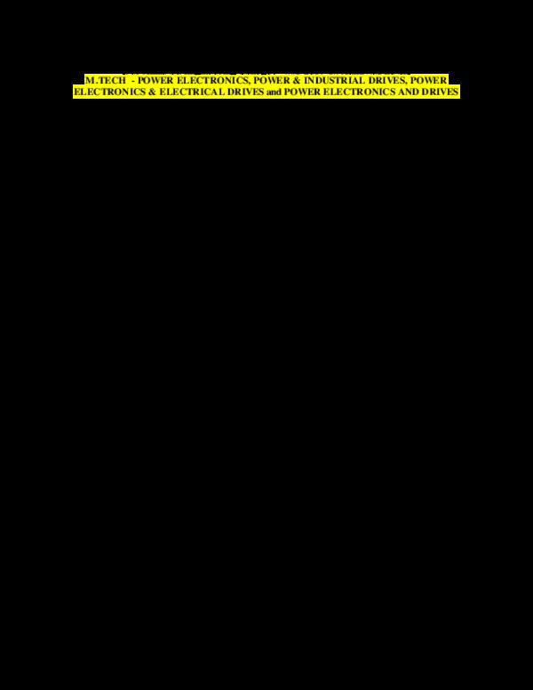 Pdf M Tech Eee Pe Pid Pe Ed Ped Courses R17 Course Structure Syllabi Guru Krishna Academia Edu