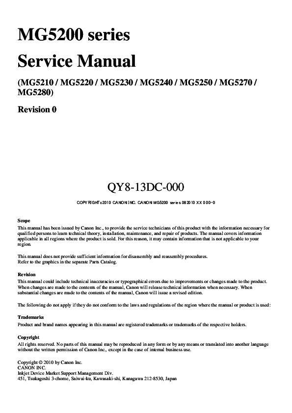 PDF) MG5200 series Service Manual | Marian Vrabel - Academia edu