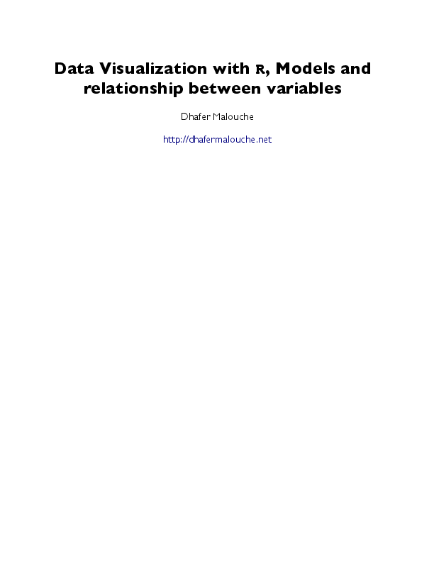 PDF) Data Visualization with R, Models and relationship between