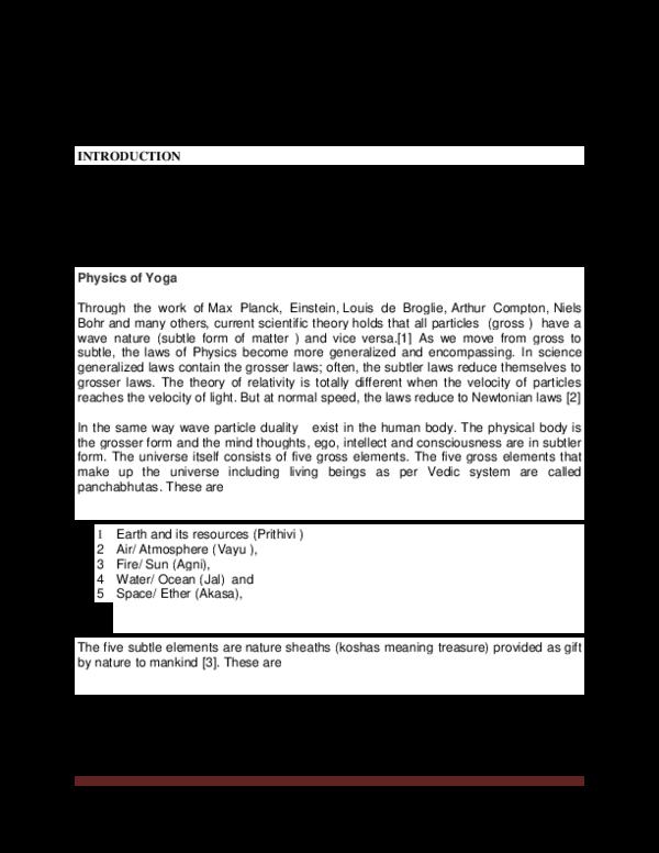 PDF) SCIENTIFIC MECHANISM OF PRACTISING YOGA Ramesh Kumar