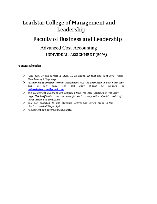 PDF) Leadstar College of Management and Leadership Faculty