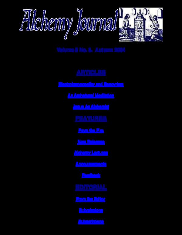 PDF) Alchemy Journal Vol 5 No 3 pdf | Mind Space Apocalypse