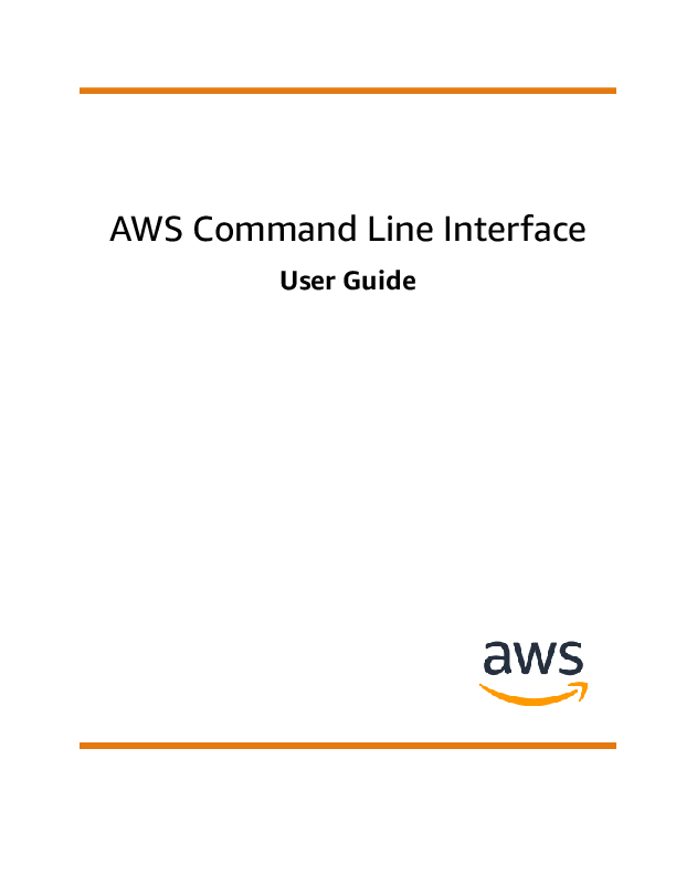 PDF) AWS Command Line Interface User Guide | Pengcheng Chen