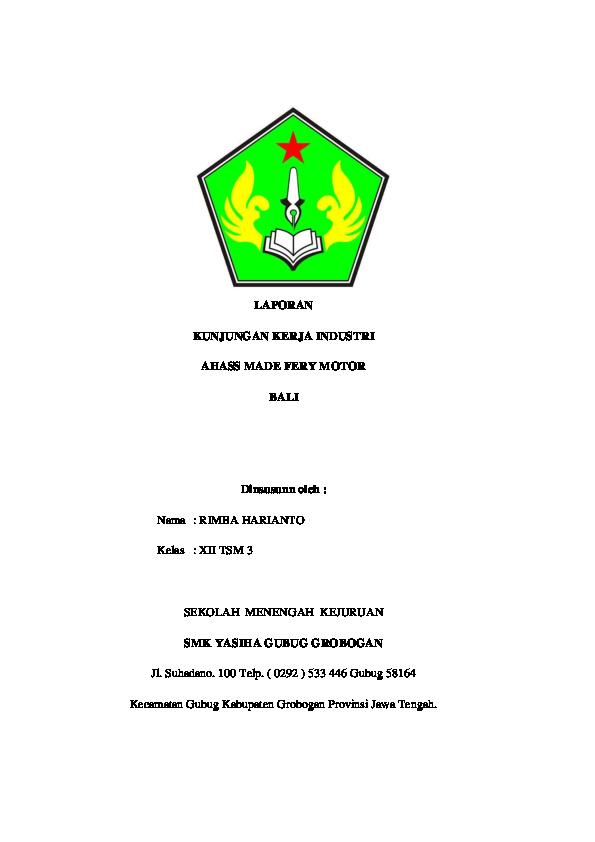 Doc Laporan Kki Bali 2017 Berkahjaya Owner Academia Edu