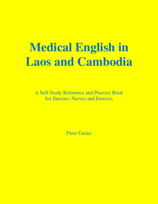 PDF) Medical English in Laos and Cambodia. A Self-Study Reference ...