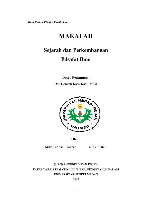 Doc Makalah Filsafat Pendidikan Docx Mika Mika Academia Edu