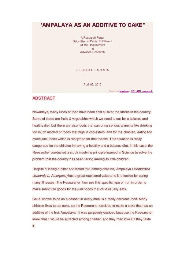 ampalaya cake thesis
