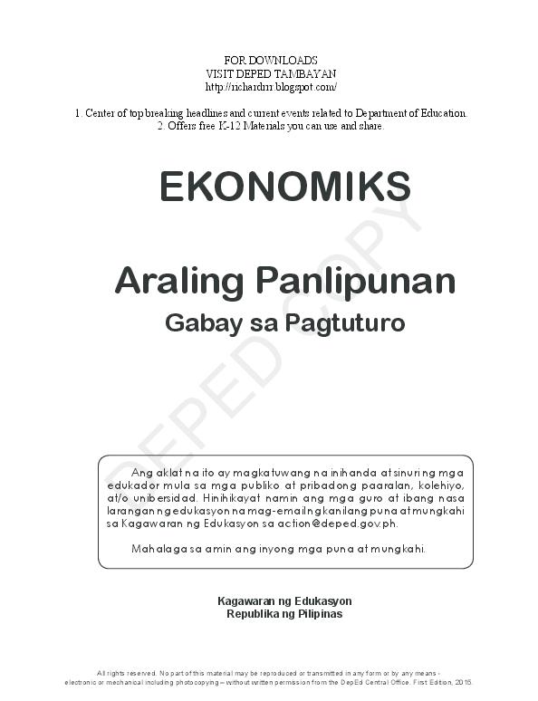 PDF) Araling Panlipunan Gabay sa Pagtuturo | Gigi Candid