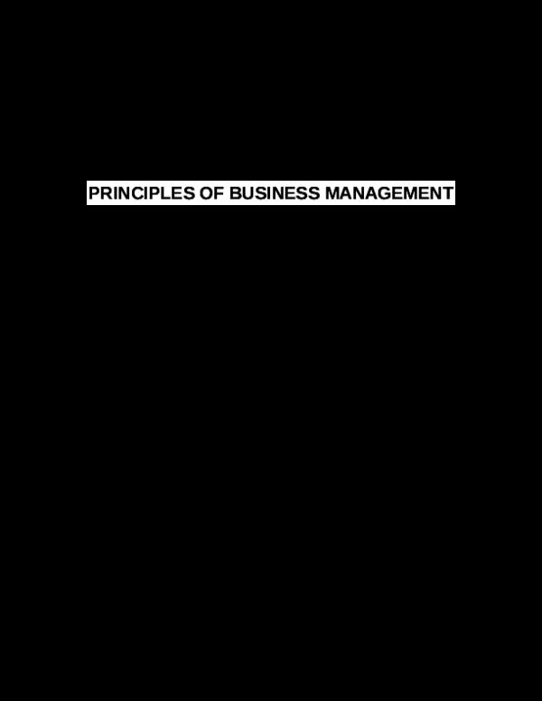 PDF) PRINCIPLES OF BUSINESS MANAGEMENT   Bιlla Bose - Academia edu