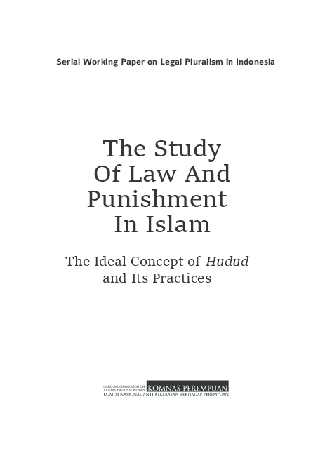 PDF) Law and Punishment in Islam: The Ideal Concept of Hudud