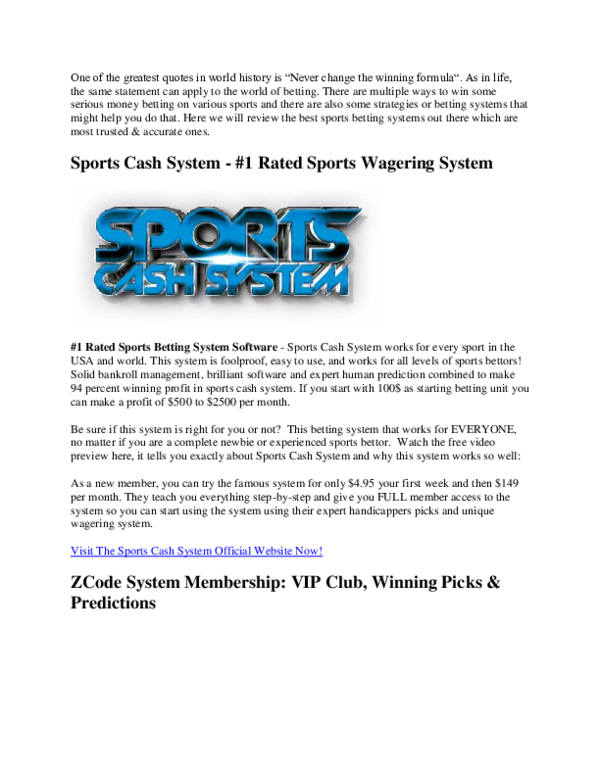 diy sports betting systems pdf free
