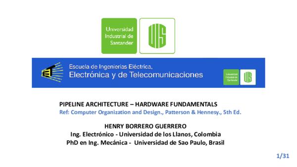 Pdf Pipeline Architecture Hardware Fundamentals Angel Felipe Cosme Mahecha Academia Edu
