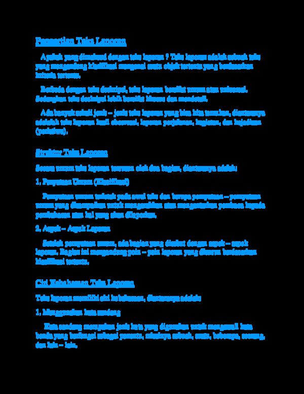 Doc Pengertian Teks Laporan Anatasya Marentek Academia Edu