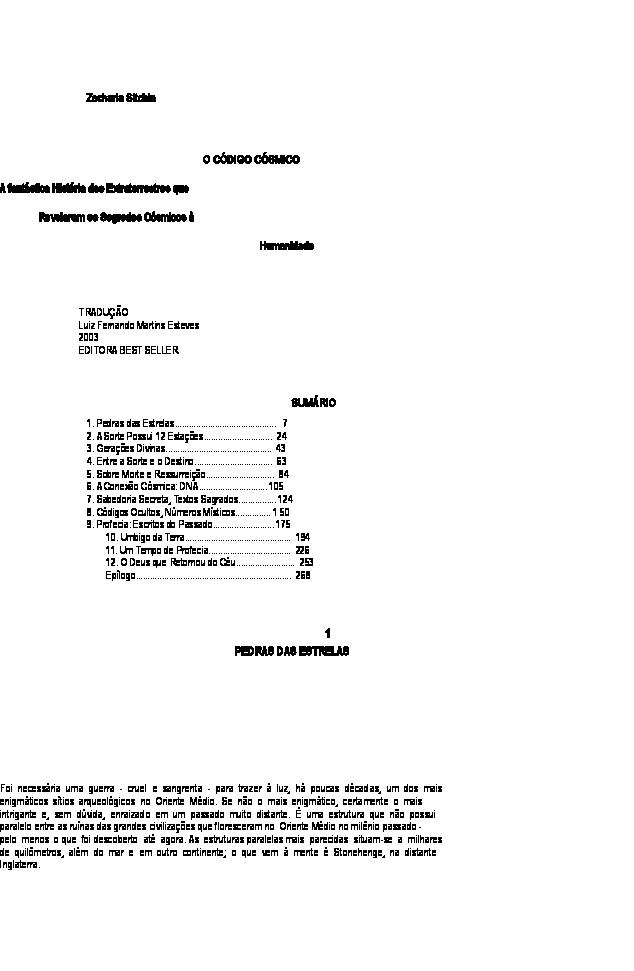 69810f3cc93 Zecharia Sitchin - O Código Côsmico.doc