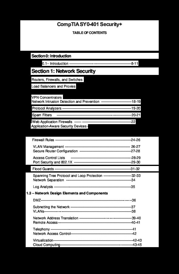 PDF) CompTIA SY0-401 Security | ann doblon - Academia edu