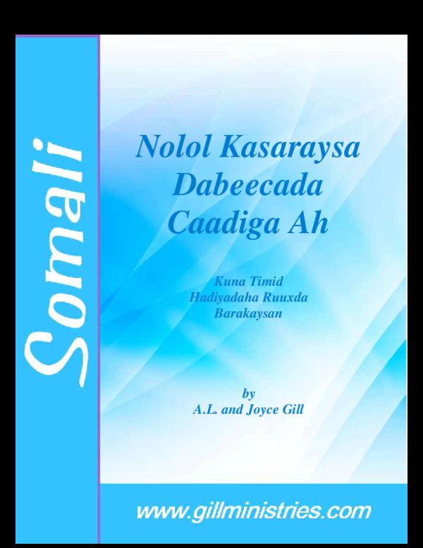 PDF) Nolol Kasaraysa Dabeecada Caadiga Ah | Xaaaf Axmed