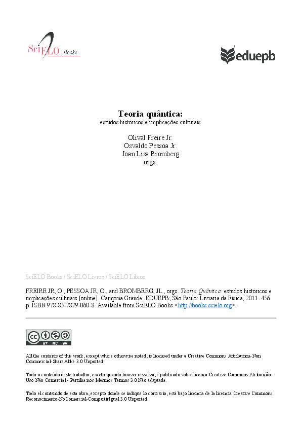 Pdf Teoria Quântica Estudos Históricos E Implicações