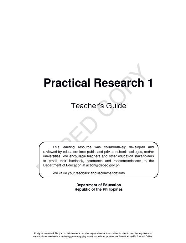 PDF) Teacher's Guide Department of Education Republic of the