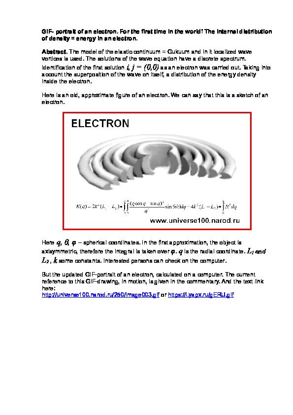 Doc Gif Portrait Of An Electron Alexandr I Dubinyansky And Pavel Churlyaev Academia Edu