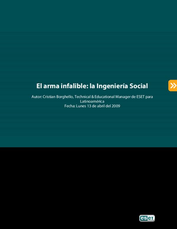 El Arma Infalible La Ingeniera Social