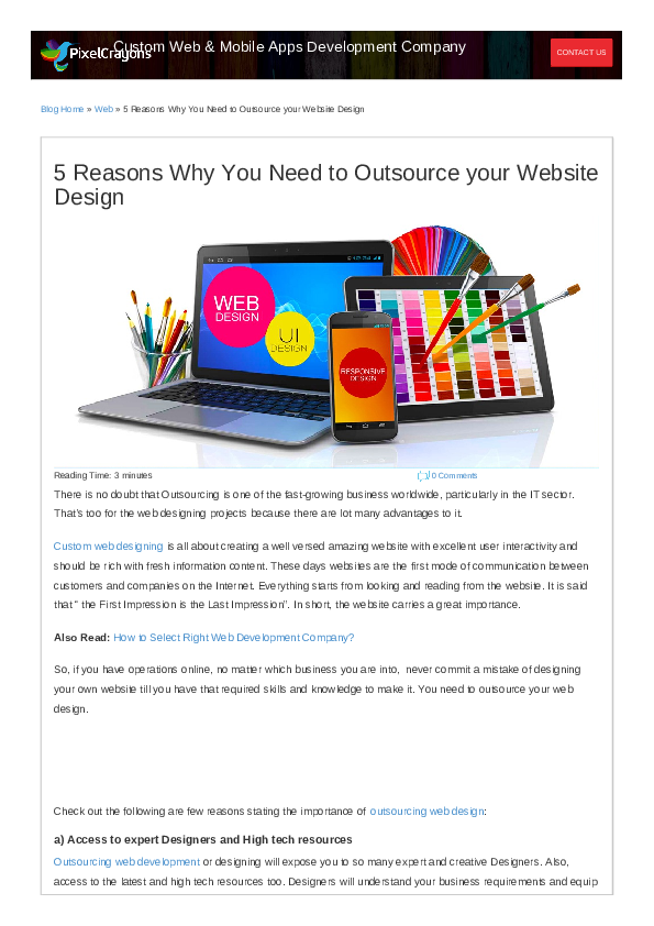 PDF) 5 Reasons Why You Need to Outsource your Website Design