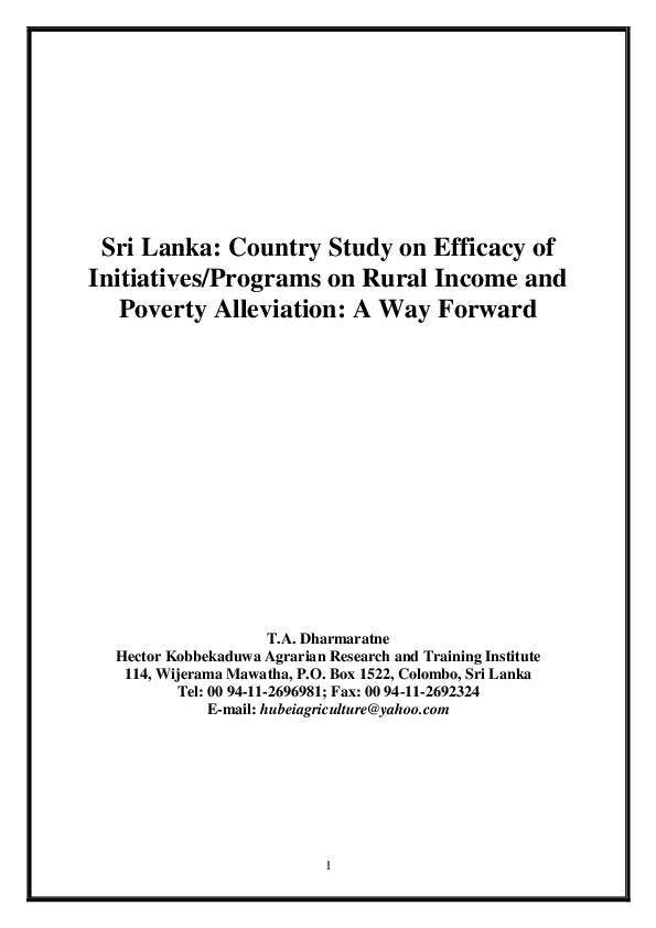DOC) Research paper for publication | dharmaratne A