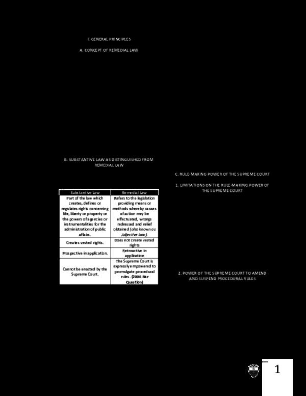 PDF) UST Golden Notes Civil Procedure Remedial Law General
