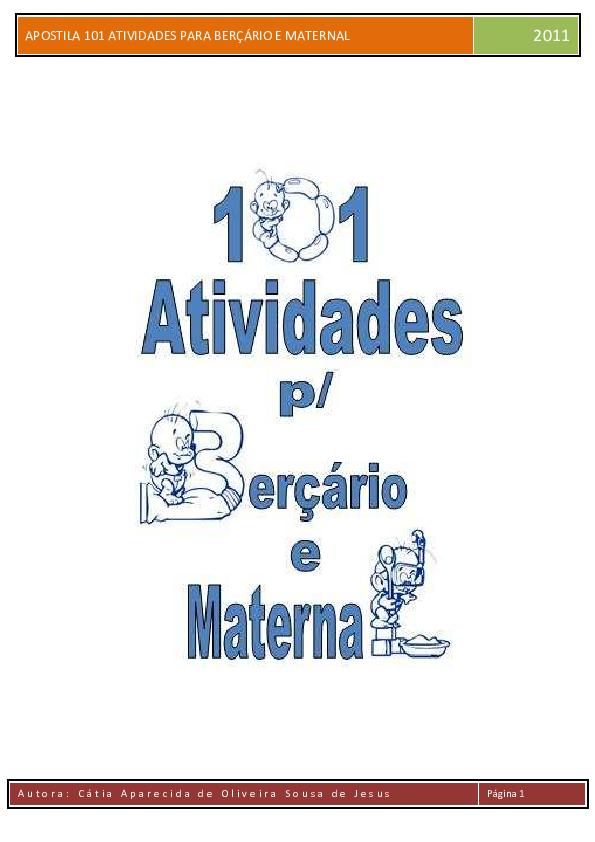 Pdf Apostila 101 Atividades Para Bera A Rio E Mat Ernal Pdf 1 Pdf