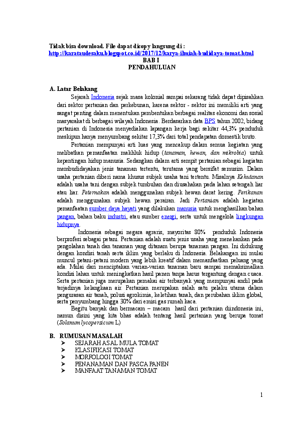 Doc Karya Ilmiah Budidaya Tomat Alya Raisa Nadya Barabai Academia Edu
