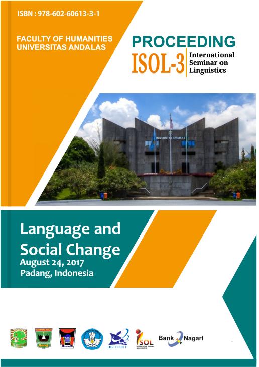 pdf proceeding rd international seminar on linguistics isol