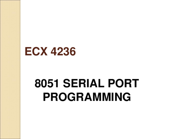 PPT) ECX4236 Serial Communication (Lab 03 day 01) ppt (1