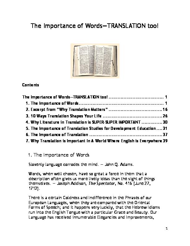 PDF) The Importance of Words—TRANSLATION too!   ERNST