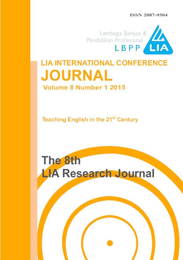 PDF) LIA INTERNATIONAL CONFERENCE JOURNAL VOLUME 8 NUMBER 1 2015