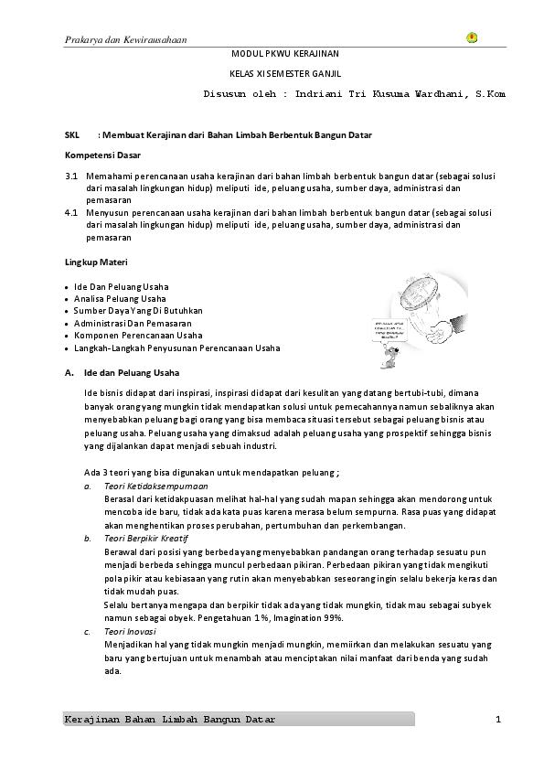 Modul PKWU KERAJINAN XI  b1a71ff3fb