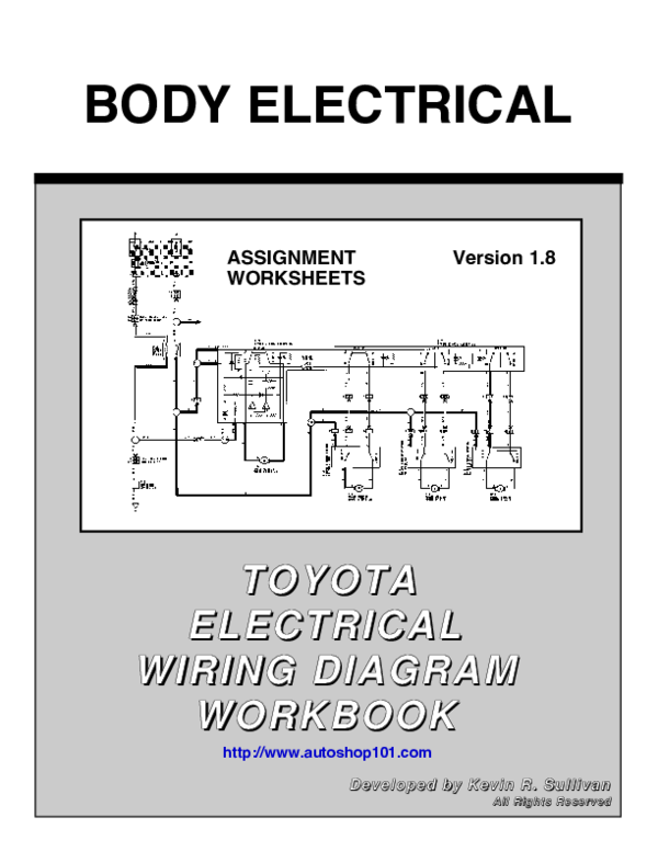 toyota 1 8 diagram pdf  body electrical toyota toyota electrical electrical wiring  pdf  body electrical toyota toyota