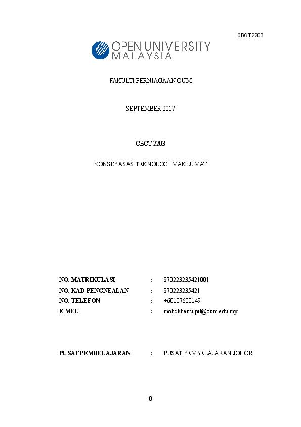 Doc Contoh Ciri Ciri Teknologi Berasaskan Internet Of Things Iot Mohd Khairul Pit Academia Edu