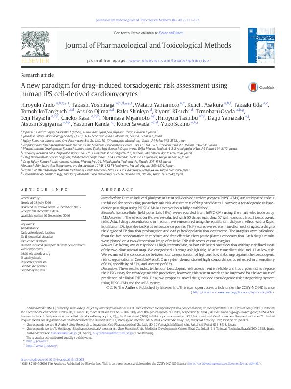 PDF) A new paradigm for drug-induced torsadogenic risk assessment