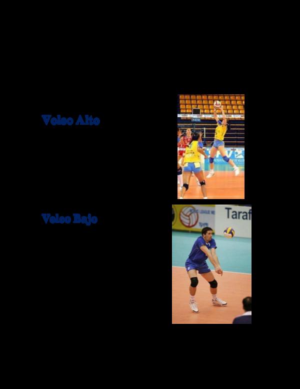 tecnicas del voleibol voleo