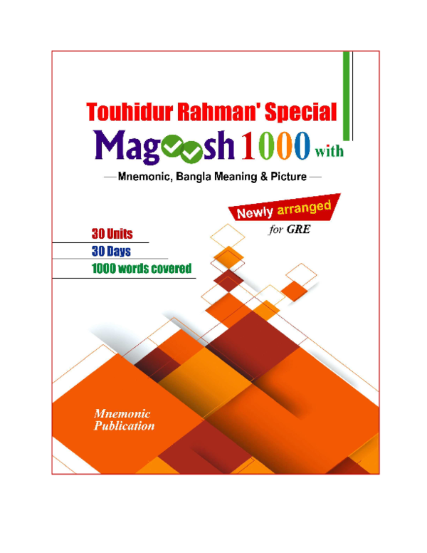 PDF) Magoosh 1000 by Touhidur Rahman | AR Anik - Academia edu