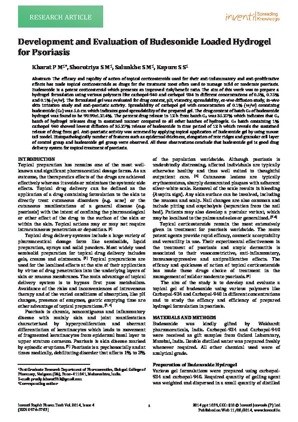 PDF) Budesonide Inventi 14880_42431_ppt1039rapid pdf | Shilpa