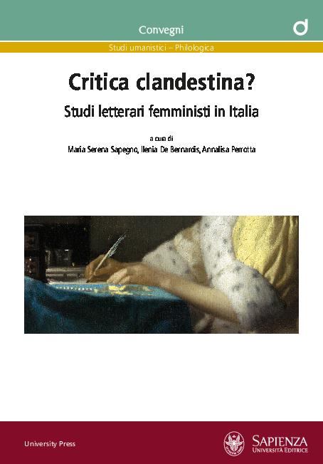 Critica Clandestina Studi Letterari Femministi In Italia Atti Del