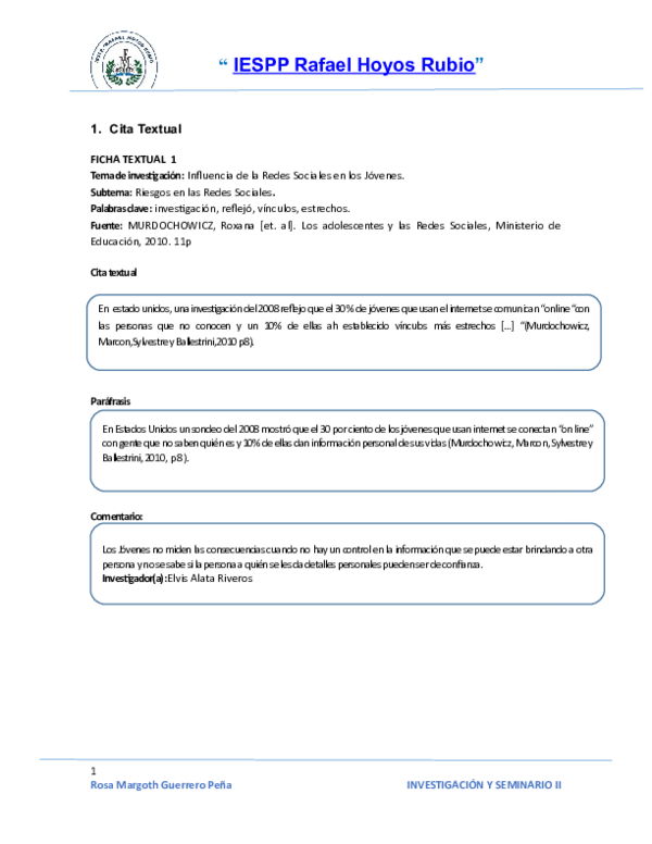 Doc Citas De Resumen Textuales Y Bibliograficas Horacio
