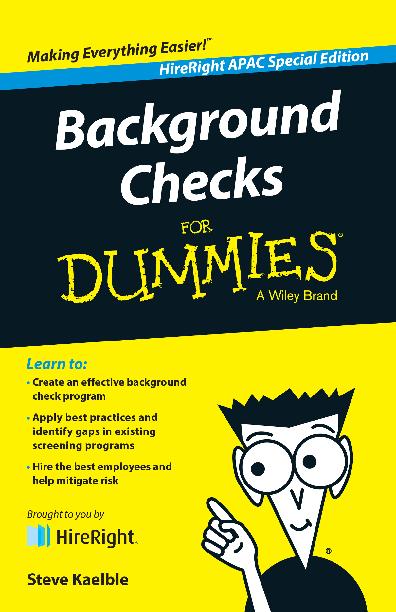 PDF) Background Checks for Dummies   Dexter Chase - Academia edu